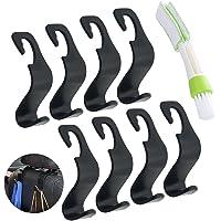 8 Pack Car Vehicle Back Seat Headrest Hook Hanger, SENHAI Strong Durable Organizer Storage Holder for Grocery Bag Purse…