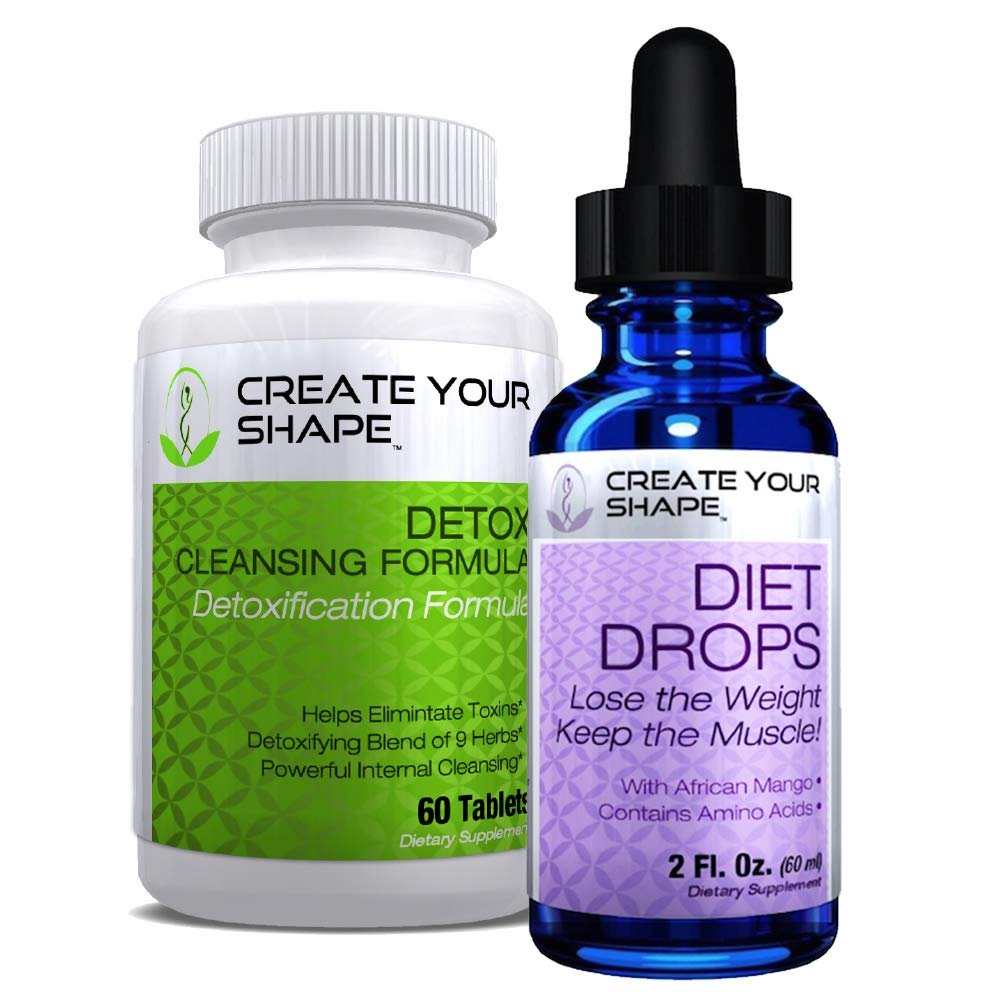 Create Your Shape Detox Cleanse Weight Loss & Keto Diet Drops - Best Seller - Rapid Weight Loss - Flush Toxins - Appetite Suppressant - African Mango - Fat Burner - Increased Energy by CREATE YOUR SHAPE