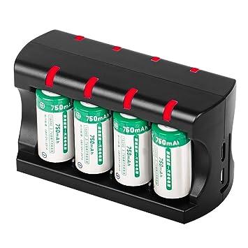 Reuvv 5V 300mAh Batería LI-ION 8 Ranuras Cargador de Batería ...