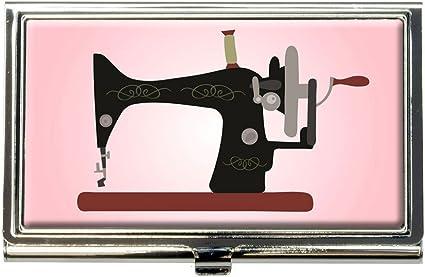 Máquina de coser Vintage fondo rosa acollador tarjeta de Crédito ...