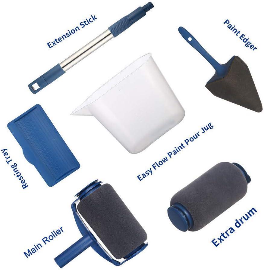 Seamless Rouleaux de Murale pour Maison /École Bureau avec Tige T/élescopique Am/élior/ée 7 Pcs 7Pcs Kit Outils de Peinture de Maison TTMOW Rouleau de Peinture