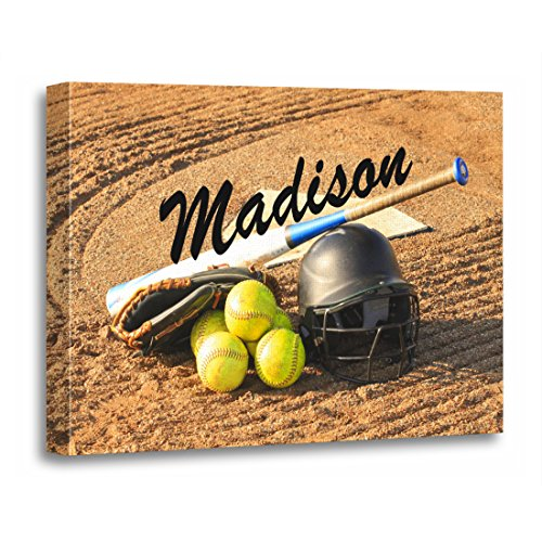 TORASS Canvas Wall Art Print Player Personalized for Fastpitch Softball Team Artwork for Home Decor 24