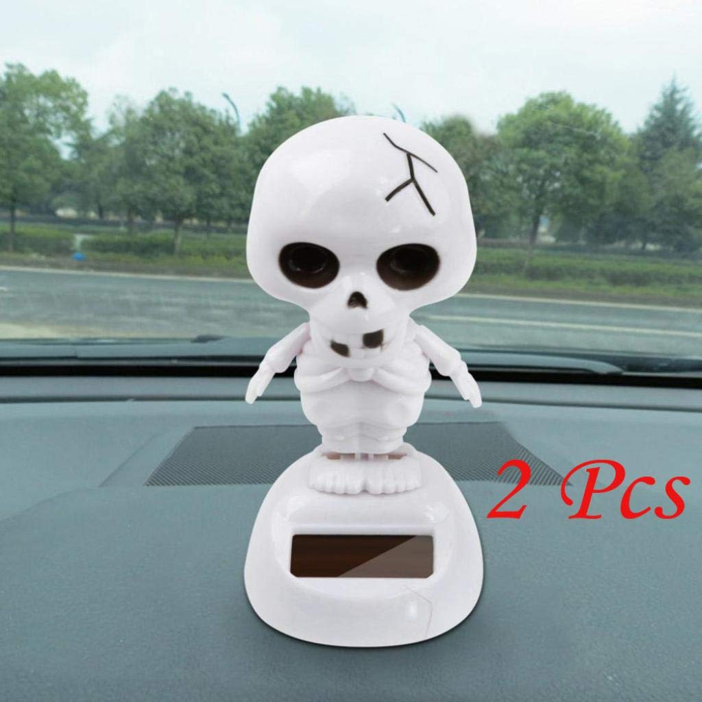 Halloween Deco for Car, 2Pcs Solar Powered Dancing Halloween Swinging Animated Gost Toy Auto Accessories