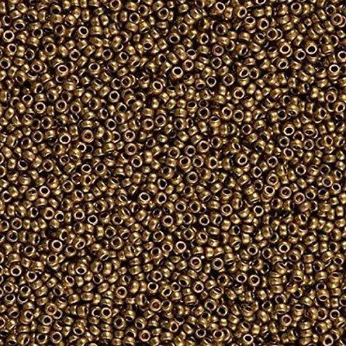Bronze Beads Metallic (Miyuki Round Seed Beads Size 15/0 8.2g Metallic Light Bronze)