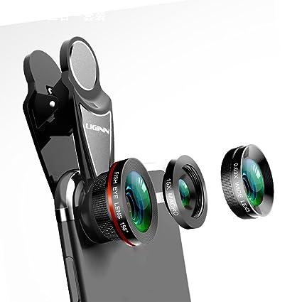 Lente De Teléfono Inteligente 3 En 1 198 ° Ojo De Pez + Lente Macro 0.63X Gran Angular + 15X Para Teléfono Y Tableta,GOLD: Amazon.es: Hogar