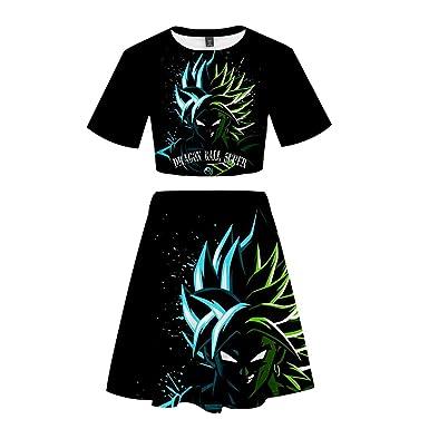 Dragon Ball Camiseta Clásico de Gran tamaño Flojo exponiendo ...