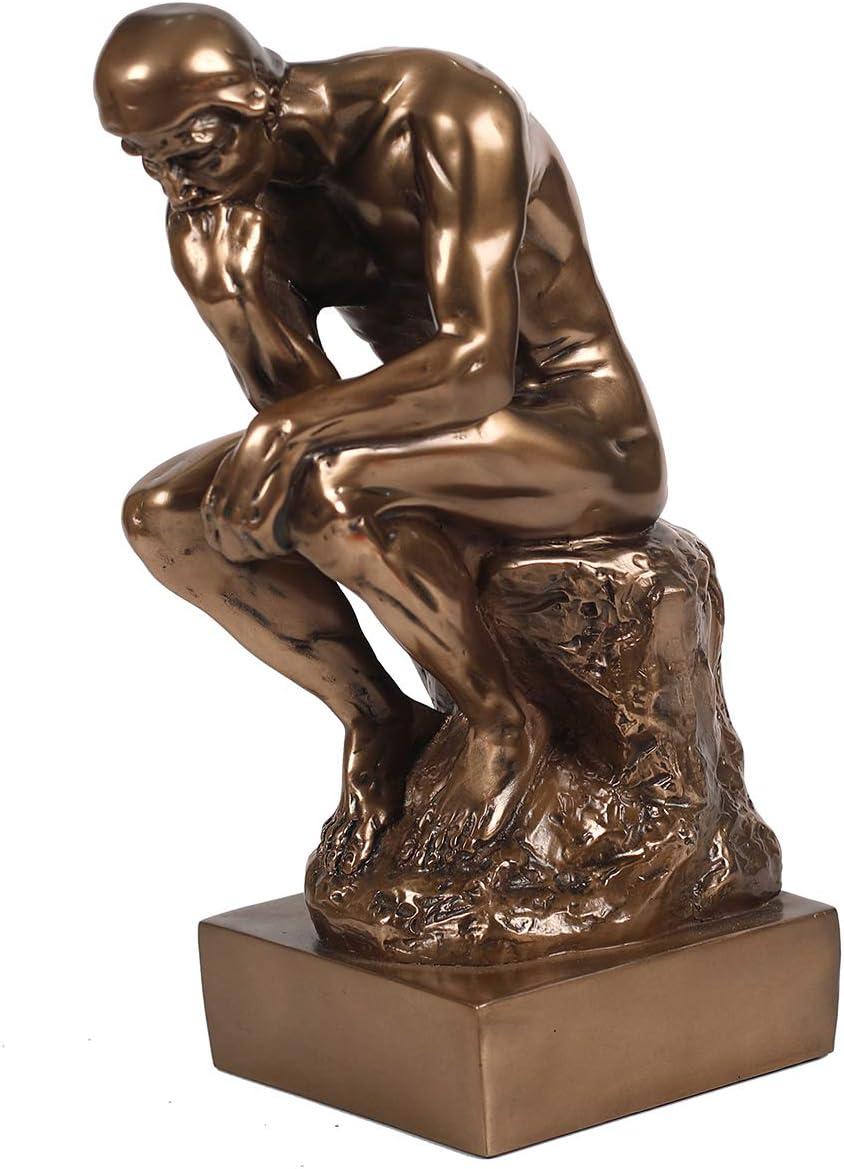 The Thinker Statue in Premium Cold Cast Bronze- 12-Inch Museum Grade Collectible Figurine