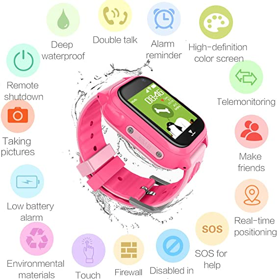 Amazon.com: GPS Kids Watch, Hangang GPS Watch for Kids with ...