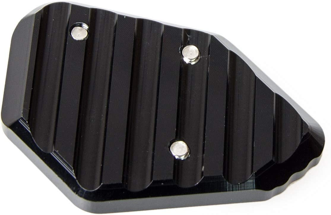 SHIYM-MTC Color : Negro Pata de Cabra Lateral Soporte de la Placa del coj/ín Ampliar Extensi/ón for BMW F800R 2009-2014 R1200S 2006-2008 HP2 Sport 2008-2010 F 800R R 1200S