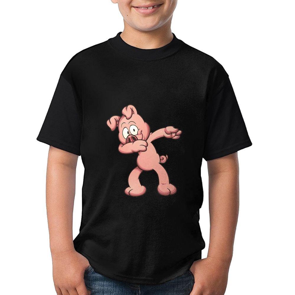 DAB Pig Joke Kids Casual Tshirt 3D Printed Tee Black Tops Large
