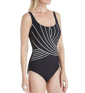 5ef202e57d8 Gottex Embrace Square Neck One Piece Swimsuit (18EM173) 8/Black/White