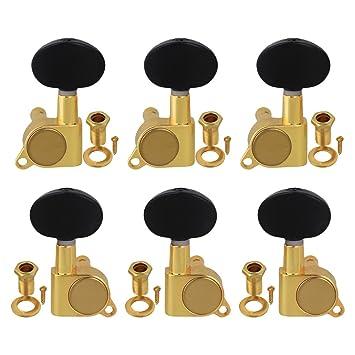 6x 3R3L Gitarren Stimmwirbel Stimmgeräte für akustische E Gitarre Teile