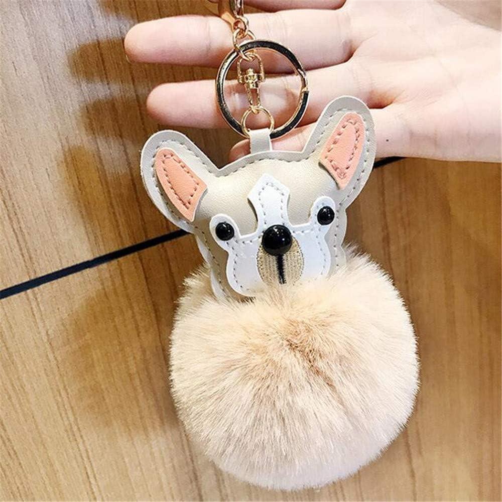 ZSDGY Llavero con Forma de Bola de Pelo de Cachorro, Colgante pequeño para Bolso, Regalo pequeño B