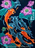 Chinese Art / Original Chinese Painting: Chinese Peasant Painting - Lotus & Fish
