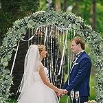 SUPLA-59-Long-Faux-Eucalyptus-Leaves-Greenery-Garland-Artificial-Silver-Dollar-Eucalyptus-Garland-in-Grey-Green-Wedding-Arch-Swag-Backdrop-Garland-Doorways-Table-Runner-Garland-Indoor-Outdoor