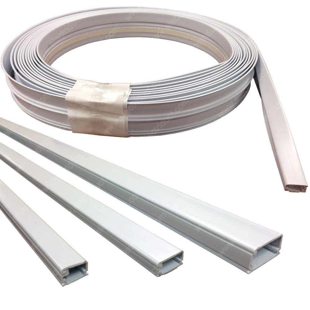 Amazon.com: Medium (500) Surface Cable Raceway Roll - 100FT - Color White:  Home Audio & Theater