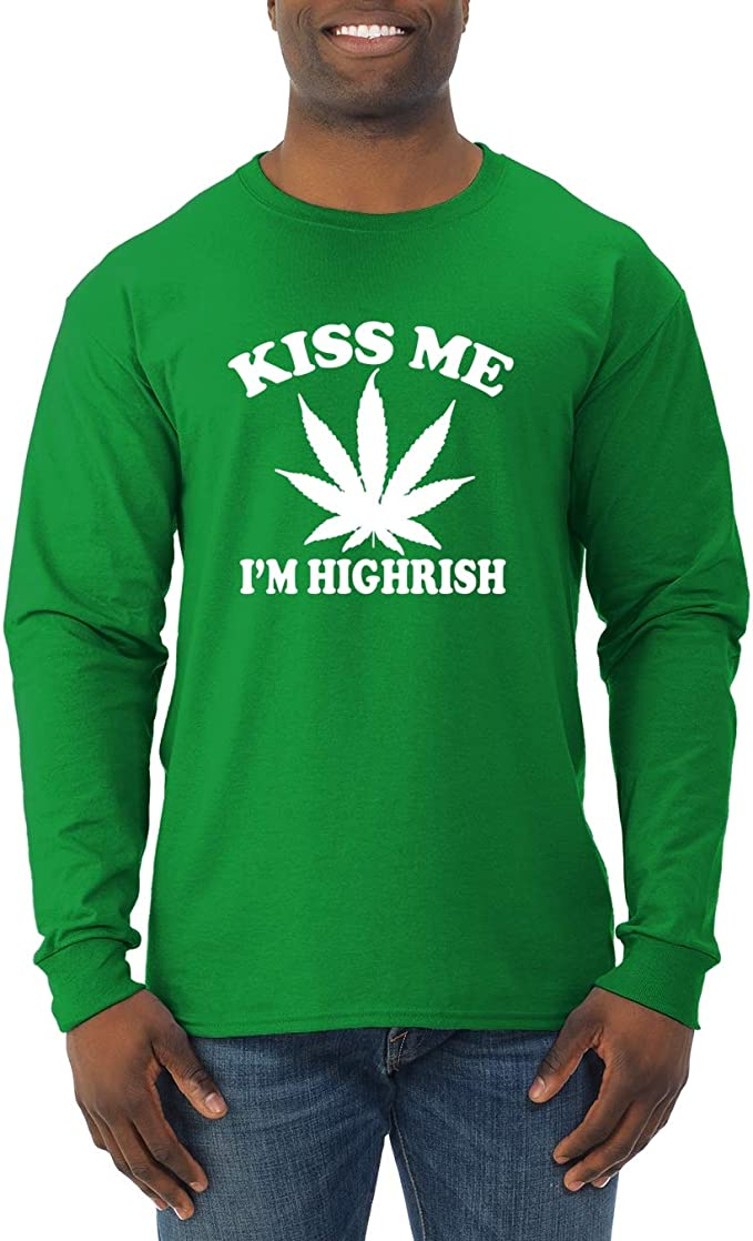 TooLoud Highrish Marijuana Leaf Dark Muscle Shirt