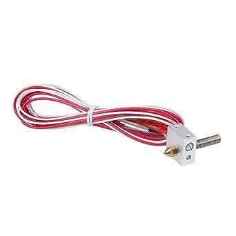 PChero impresora 3d Hot End 12 V 40 W montado Kits de Extrusor con ...
