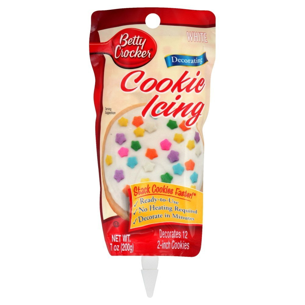 Betty Crocker Cookie Icing White, 7-Ounce (Pack of 6)