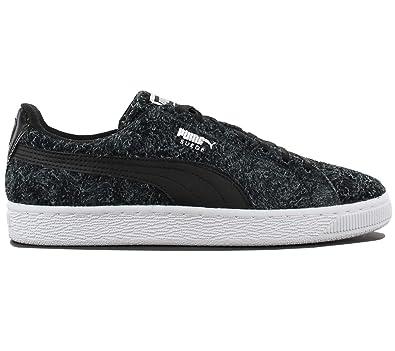 pas mal e3435 125a3 Puma Suede Elemental Chaussures de Femme Noir Cuir Sneaker ...