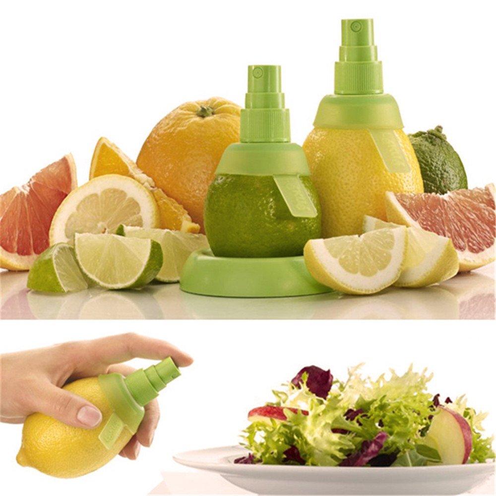 Wholesale Lemon Juice Citrus Sprayer Creative Home - Best For Adding a Light Juice Spray to Kitchen Food. Portable Mini Fruit Hand Sprayer Works with Orange Tangerine. (1, Green)