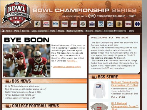 Amazoncom Fox Sports Bcs College Football Kindle Store