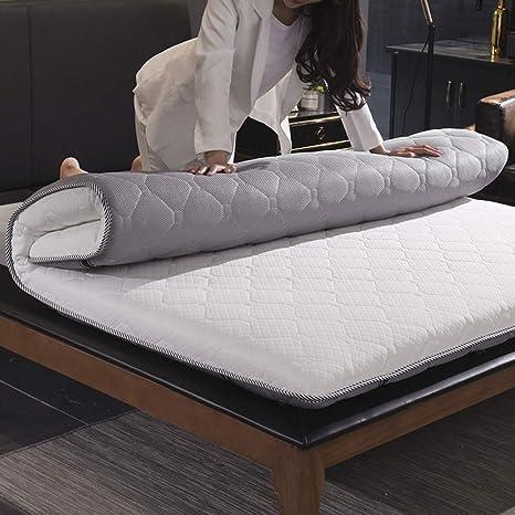 WJH Colchones viscoelásticos de Espesar, Colchón de futón Tatami japonés, Doble Cara Disponible Respirable Antibacteriano Anti-ácaros Sleeping ...