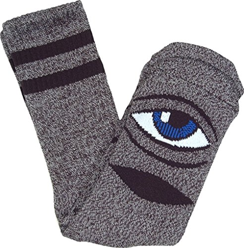 Toy Machine Skateboards Sect Eye Grey Grey Heather Crew Socks - One size fits most