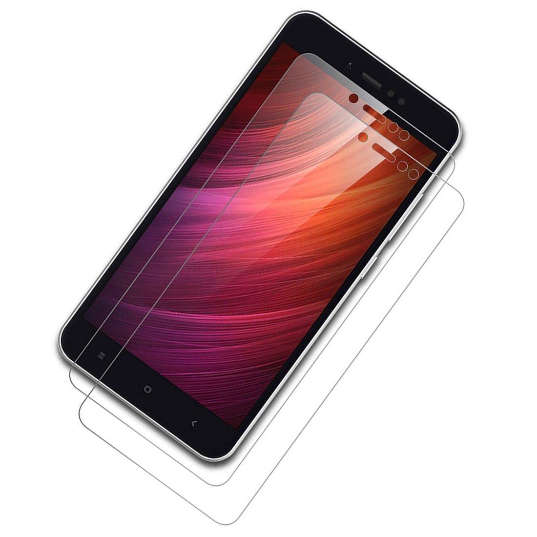 Leathlux Protettiva Schermo Protettore Protezione dello schermo Pellicola Protettiva in Vetro Temperato per Xiaomi Redmi Note 5A Redmi Y1 Lite 5.5 2Pack x Pellicola Vetro Temperato Redmi Note 5A