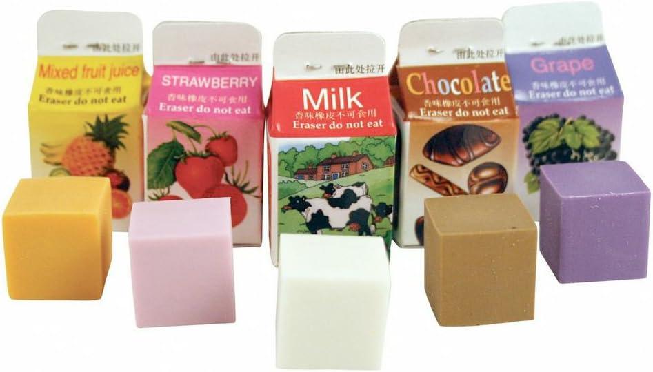 Kikkerland Scented Erasers, Milk Cartons (ER05)