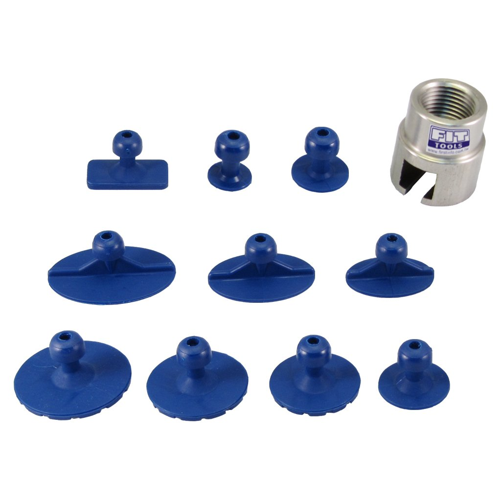FIRSTINFO Adaptor and 10 PCS Small Damage Repair Kit for Our Air Pneumatic Dent Puller