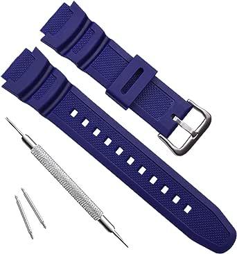 OliBoPo Correa de reloj de repuesto de resina natural impermeable para Casio AQ- S800W SGW-300H MRW-200H AE-1200 W-800H W-735H