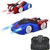 QUN FENG Ferngesteuertes Auto Fahrzeug Spielzeug für Kinder Jungen Mädchen Dual-Mode-360 ° RC Car mit Fernbedienung und Stunt Kletterwand Funktion Kids Toys for Boys Girls(Blau)