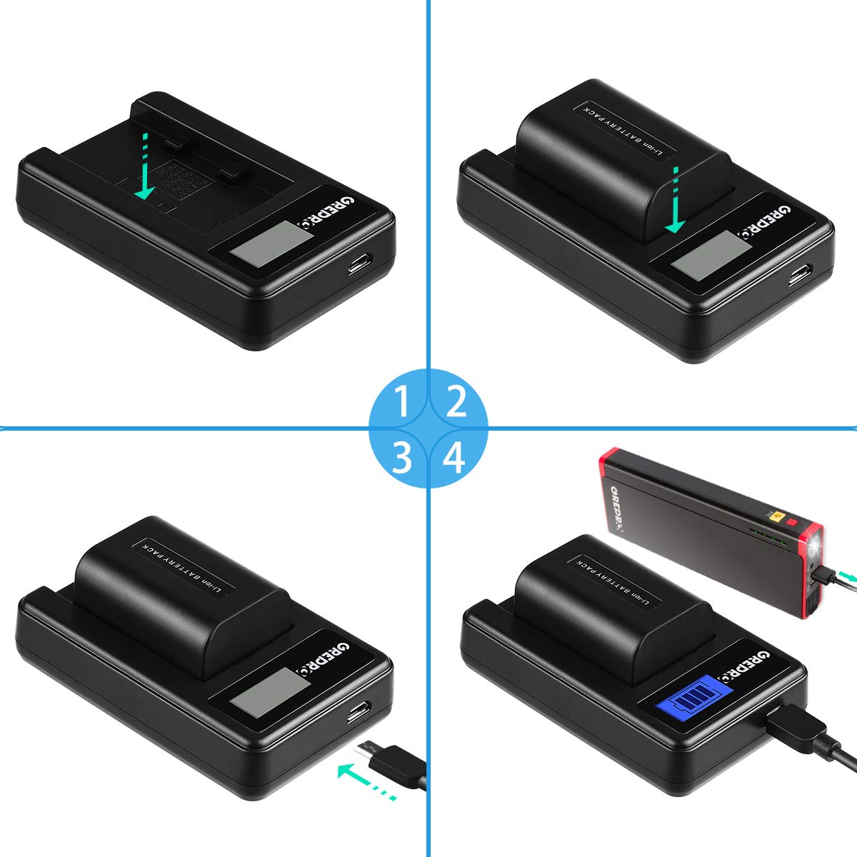 and Dual USB LCD Charger Set 100/% Compatible with Original for Canon EOS Rebel T3 T5 T6 T7 Kiss X50 X70 X80 X90 EOS 1100D 1200D 1300D 2000D 2 Pack Grepro LP-E10 Camera Replacement Battery