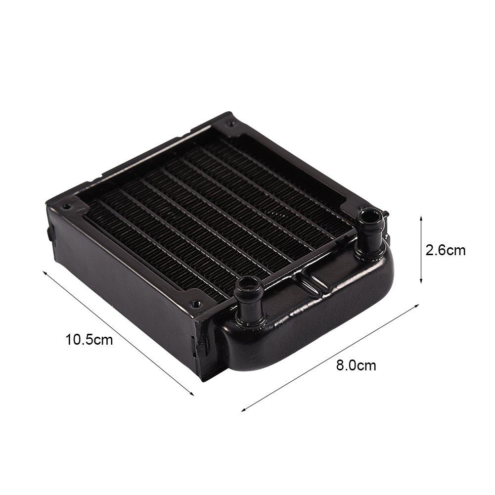 Integrated 80mm Ra-Diator Aluminum Heat Sink CPU Heat Sink for Easy Installation for PC Computer CPU Cooling System
