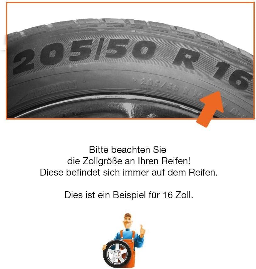 CM DESIGN 15 Zoll Radzierblenden ROYAL RC Radkappen passend f/ür Fast alle OPEL wie z.B Adam Familie Schwarz mit Chromring