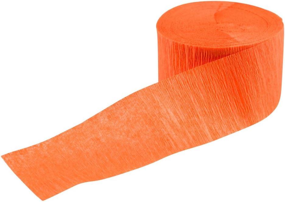 Bande de Papier cr/épon Orange D/écoration de f/êtes Rouleau en Papier cr/êp/é 4,4 x 247 cm Article Festif