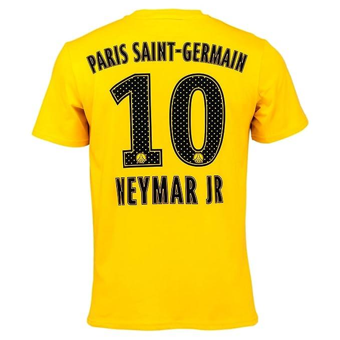 feb769e8ffae1 PSG - Official Paris Saint-Germain 'Neymar Jr' Kids T-Shirt - Yellow ...