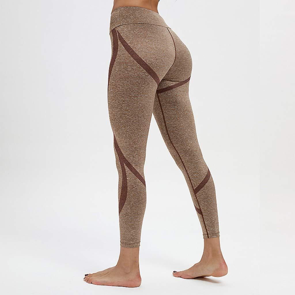 Cintura Alta de Yoga Pantalones, YpingLonk Absorción de Humedad Push ...
