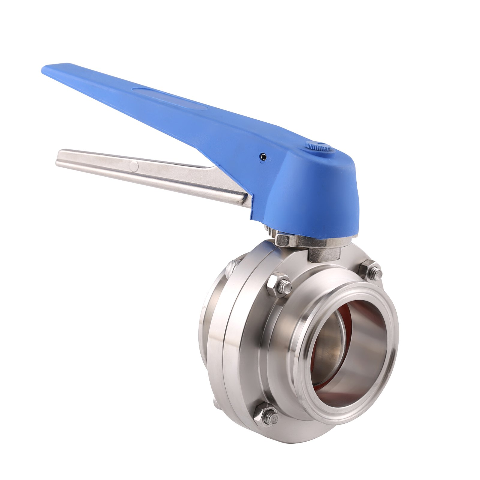 BOKYWOX 2'' Sanitary Stainless Steel 304 Tri Clamp Butterfly Valve with Trigger Handle and Silicon Seal