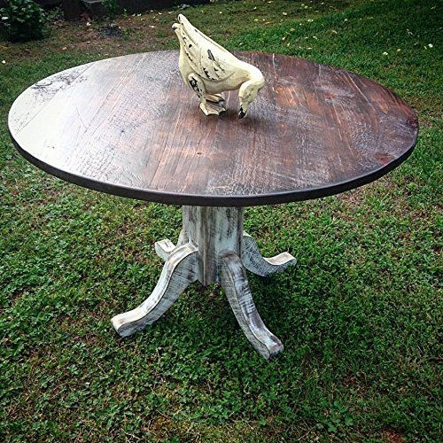 Custom Reclaimed Wood Round Farm Table