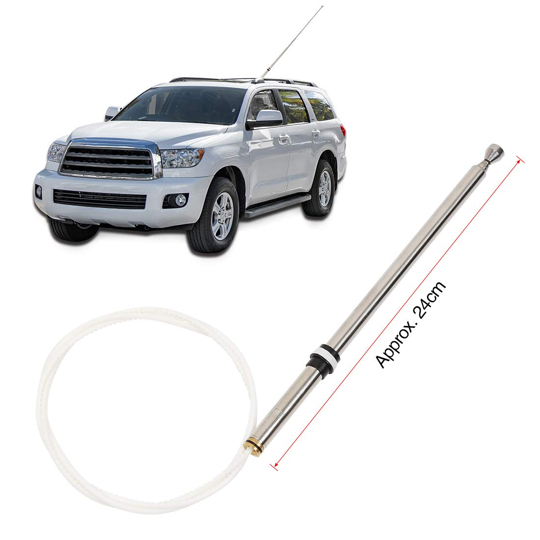 X AUTOHAUX Car AM FM Radio Antenna Mast 86337-50141 for Toyota Lexus LS400 GS300