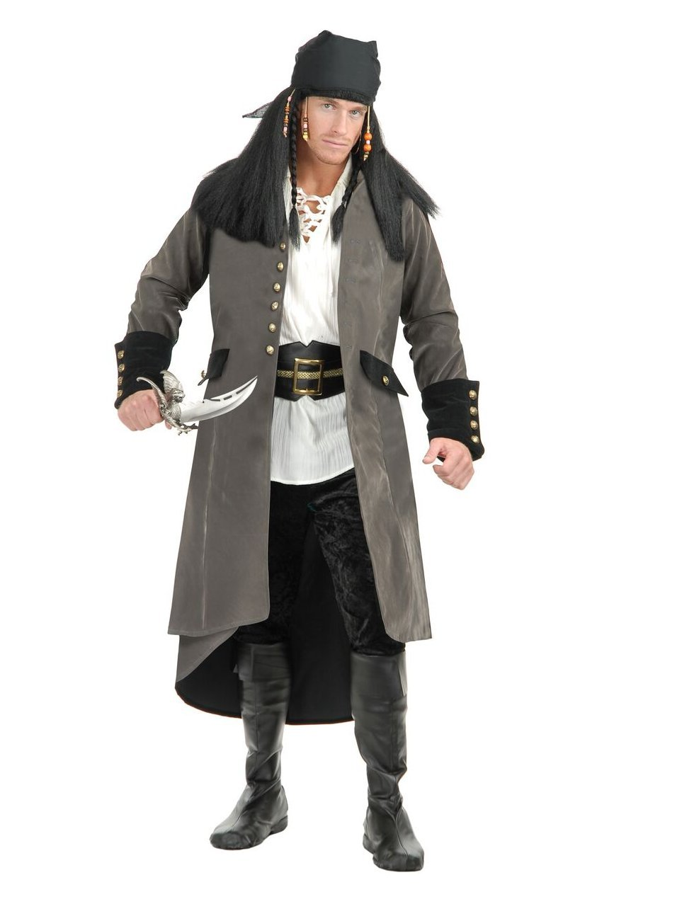 Treasure Island Pirate Adult Costume Grey - X-Large