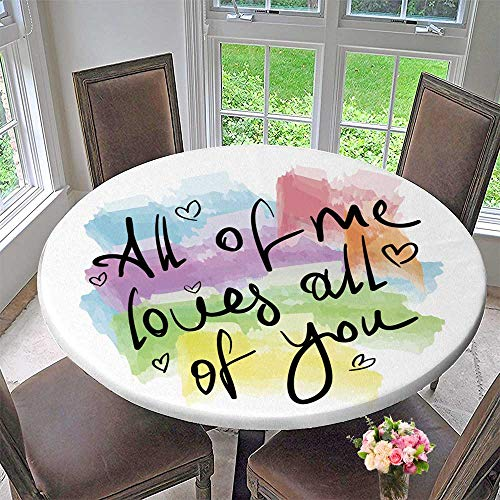 (PINAFORE HOME The Round Table Cloth of me Love You Romantic Love Quote Note as Greet Card for Birthday Party, Graduation Party 67
