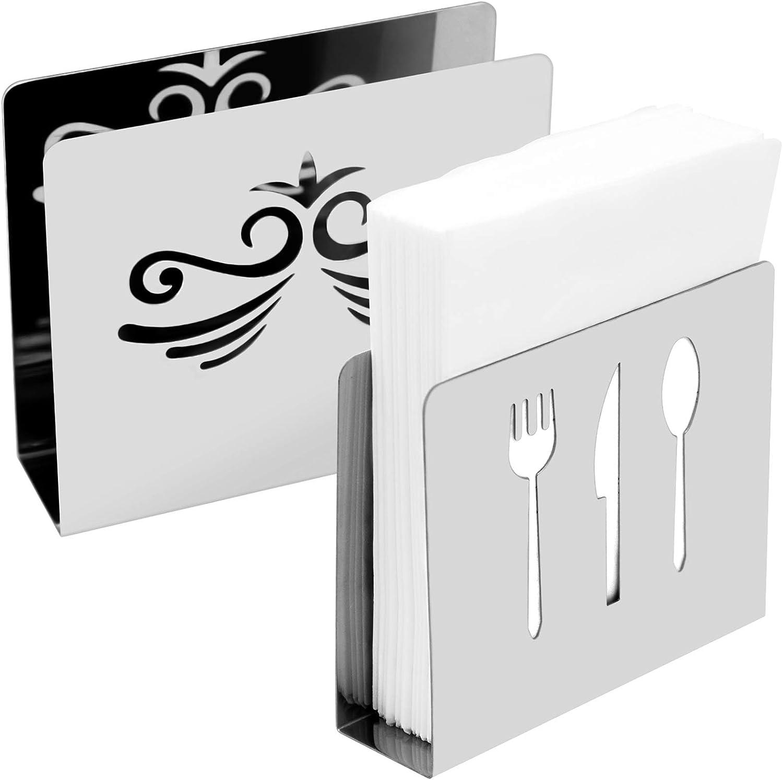 Supporto per Tovaglioli da Cucina Comodo e Bello N+A Portatovaglioli in Acciaio Inossidabile Il Design Moderno ed Elegante Mantiene Il Tavolo Pulito