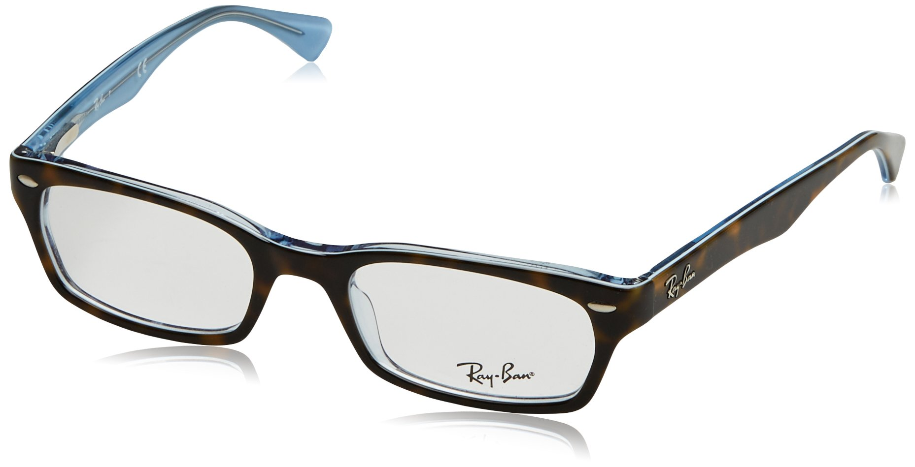 Ray-Ban Women's 0RX5150 50mm Top Havana/Transparent Blue Reading Glasses by Ray-Ban
