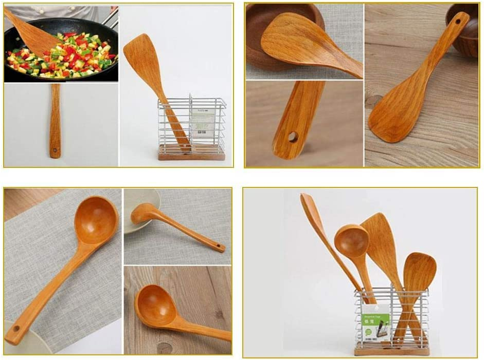 Kapokilly Japanese Wooden Shovel Set,Japanese Style Solid Wood Shovel Non-stick Special Spatula Set Wooden Wood Spatula Shovel Rice Spoon Wood Soup Spoon Wooden Spoon.