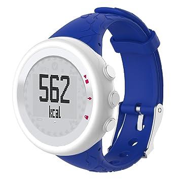 Ranuw Correa de Silicona para Muñeca para Suunto Quest M1 M2 M4 M5 M Series Reloj Hembra S, Color Azul: Amazon.es: Deportes y aire libre