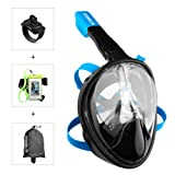 Amazon Price History for:Enkeeo Full Face Snorkel Mask with 180° Panoramic View, Watertight and Anti-Fog (Including Waterproof Phone Case and GoPro Compatible Band)