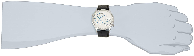 August Steiner Hombre Acero Inoxidable Dual Time Reloj: Amazon.es: Relojes